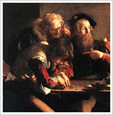 LE CARAVAGE, La vocation de Saint Matthieu - 1599
